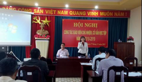 Hội nghị Giáo viên chủ nhiệm, cố vấn học tập năm học 2018-2019