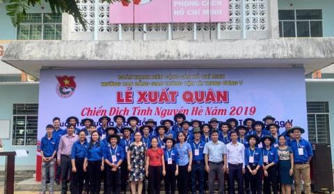 """Lễ xuất quân Chiến dịch Tình nguyện hè năm 2019 """"Tuổi trẻ Trường Cao đẳng Giao thông vận tải Trung ương V tình nguyện vì cộng đồng"""""""
