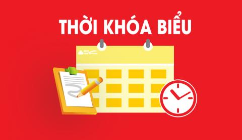 Thời khóa biểu tuần 45  (Thực hiện từ ngày 7/6/2021 đến ngày 12/6/2021)