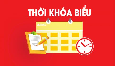 Thời khóa biểu tuần 5 (Thực hiện từ ngày 30/8/2021 đến ngày 4/9/2021) - Khoá 2019 & Khoá 2020
