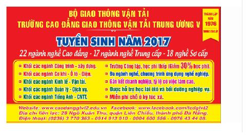THÔNG BÁO TUYỂN SINH 2017