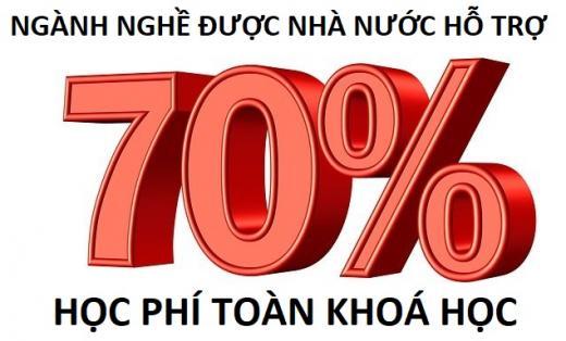 CÁC NGÀNH NGHỀ ĐÀO TẠO TRÌNH ĐỘ CAO ĐẲNG VÀ TRUNG CẤP ĐƯỢC NHÀ NƯỚC HỖ TRỢ 70% HỌC PHÍ TOÀN KHOÁ HỌC