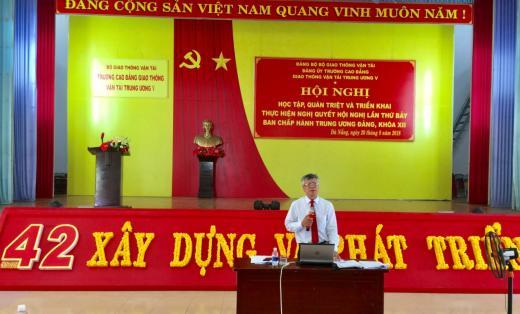 Hội nghị học tập, quán triệt và triển khai thực hiện nghị quyết hội nghị lần thứ bảy Ban chấp hành Trung ương Đảng khóa XII